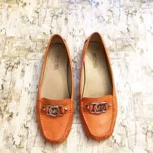 Michael Kors Loafer with Charm in Rust size 8